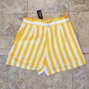 Juicy Couture Shorts - NEW JUICY COUTURE BLACK LABEL SATIN STRIPED SHORTS